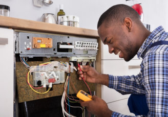 man doing technical services